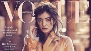 Lorde on the cover of Vogue Australia.