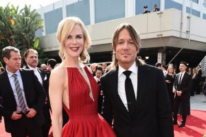 Nicole Kidman, left, and Keith Urban arrive at the 69th Primetime Emmy Awards on Sunday, Sept. 17, 2017, at the ...