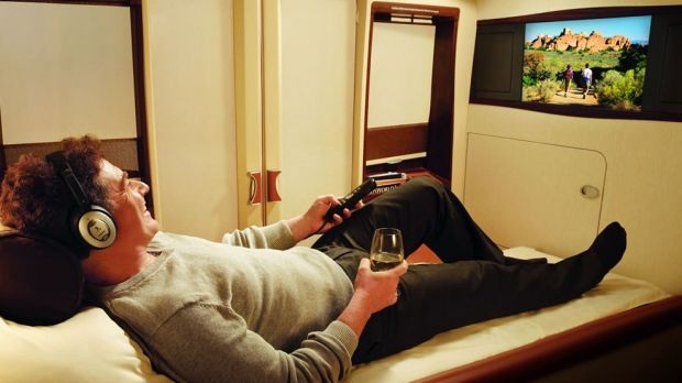 The view from first class with Singapore Airlines.