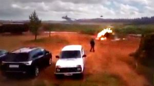 Russian helicopter misfires