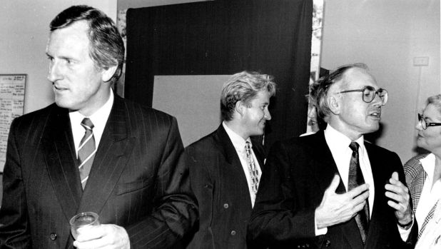 'Australia would only become a republic over my bloody dead body,' John Howard (right) told John Hewson (left) in 1993.