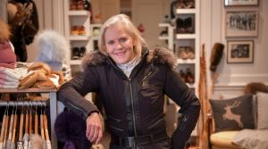 Former Olympic skier Jo McDougall at ski shop Molony's, in South Yarra, Melbourne.
