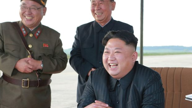 What a laugh: a North Korean official has said the rogue state would test a bomb in the Pacific.
