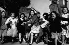 ARCSCAN DATE 23.08.1962. SUBJECT School children leaving school to start holidays. Darlington School. LOCATION ...