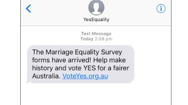 Australians rage over marriage equality text message, Twitter responds hilariously