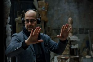 Actor and director Stanley Tucci on the set of Final Portrait.
