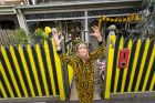 The Age, News, 27/09/2017 photo by Justin McManus. Richmond fanatic Jeanette Powell outside her home in Richmond that ...