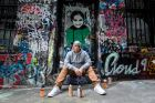 The Age, News, 27/09/2017 photo by Justin McManus. Luke Cornish (aka E.L.K ) is a street artist who has been travelling ...