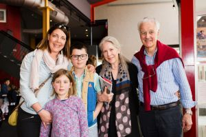 Jelmer Hoekstra, of Bungendore with her children Anke 7, and Jelke 10, an Felicity, and Peter Spear, of Geelong.