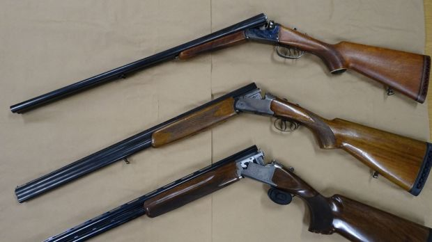Weapons seized by police after raids in late September.