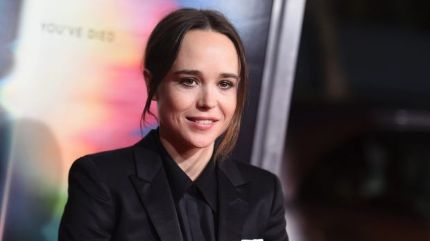 "Ellen Page arrives at the world premiere of ""Flatliners"" at The Theatre at Ace Hotel."