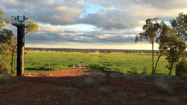 The view from the Nothdurft's property towards the Kenya gasfield.