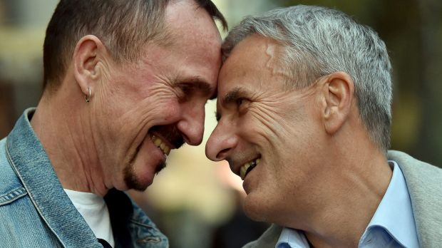 Karl Kreile, left, and Bodo Mende are getting hitched! The two civil servants are expected to become the first gay ...