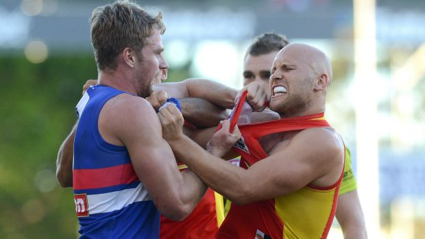 Two of the top trade targets: Bulldogs player Jake Stringer and Suns champion Gary Ablett.