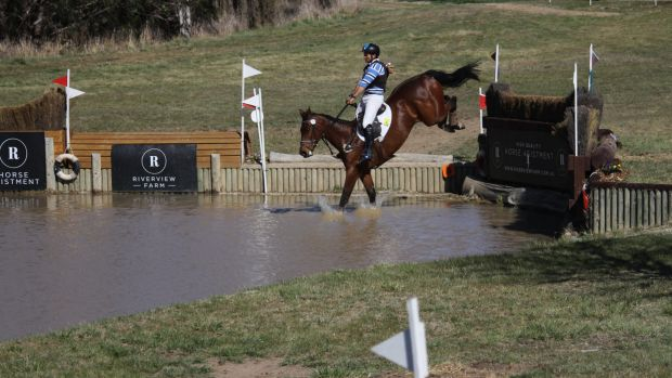 Shane Rose won the three star class at the Canberra International Horse trials on Sunday.