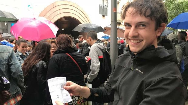"""The most important thing is democracy,"""" says Catalan independence voter Pol."""