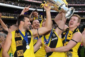 Richmond players celebrate victory.