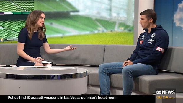 TV presenter left stunned as Victory's Austin walks out on interview