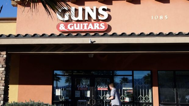 Gun stocks up after Las Vegas shooting