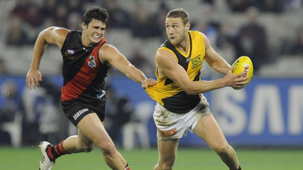 Jay Schulz in action for Richmond in 2008.