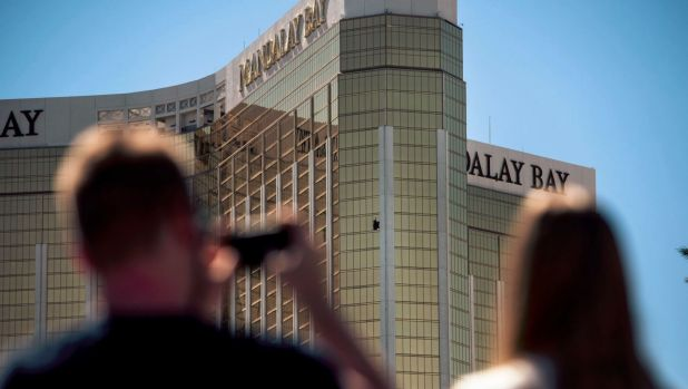 Stephen Paddock smashed windows in his suite at the Mandalay Bay Resort and Casino