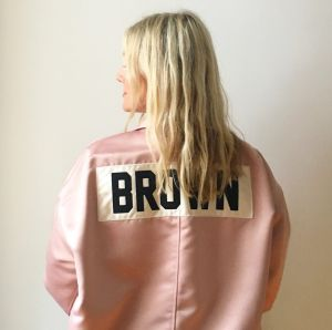 Brown's self-deprecating wit, which she showcases on Instagram for 153,000 followers, stands out in the fashion world.