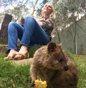 Brown regularly posts images of herself with Australian animals on her Instagram account.