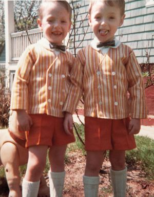 Twin future astronauts Mark (left) and Scott Kelly, in 1967.