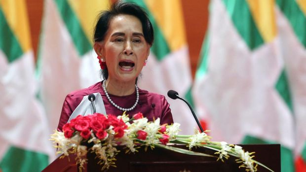 """The UN has urged Myanmar's de facto leader Aung Sun Suu Kyi to immediately end the """"cruel"""" security operation."""