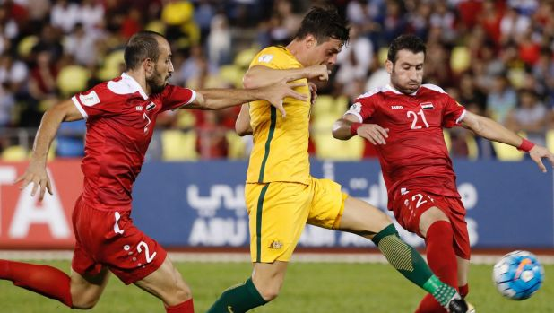 Cahill double ends Syria's World Cup dream as Aussies edge tense playoff