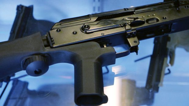 "A ""bump stock"" attached to a semi-automatic rifle allows it to mimic fully automatic weapons"
