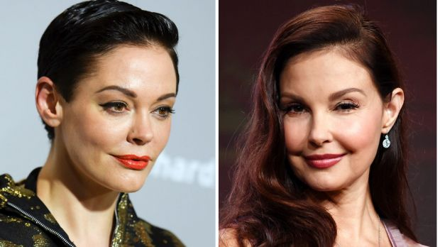 Actresses Rose McGowan (left) and Ashley Judd are among the actresses said to have been paid off by Harvey Weinstein to ...