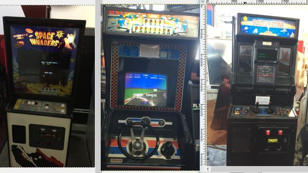 Arcade royalty: Space Invaders, Pole Position and Battle Zone.