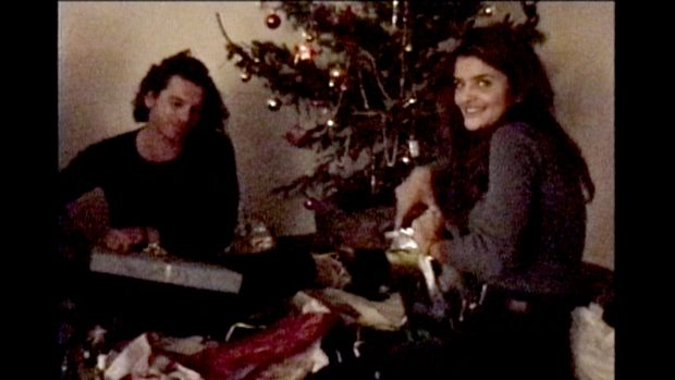 Michael Hutchence with Helena Christiansen at his French villa as seen in The Last Rockstar.