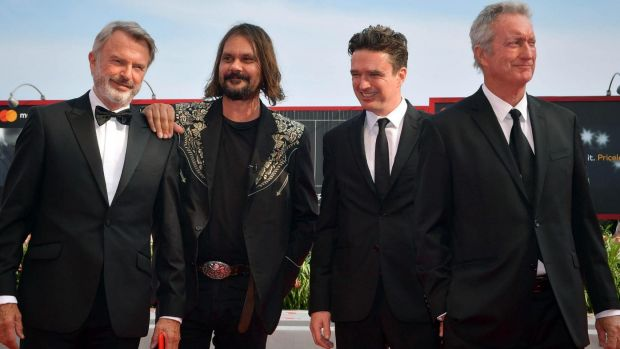 Director Warwick Thornton with (from left) actors Sam Neill, Matt Day and Bryan Brown at the world premiere of <i>Sweet ...