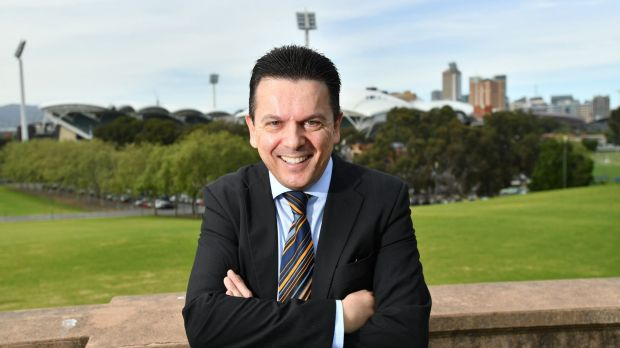 Nick Xenophon, posing for a photograph after announcing his plan to quit the Senate, could seize an influential role in ...