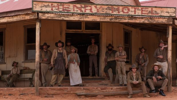 Drinkers at the Henry Hotel in Sweet Country.