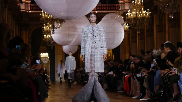 """Thom Browne presented """"an otherworldly collection"""" in Paris."""
