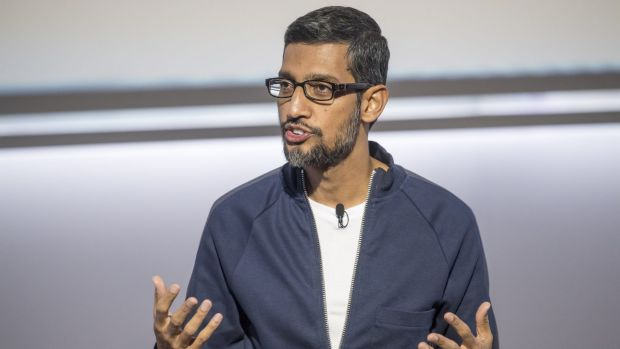 Google CEO Sundar Pichai speaks at this week's Made by Google event.