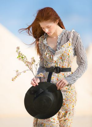 I've Got My Angel Now dress, Nevenka, $2255; Hotel shirt, Life with Bird, $260; Monet belt, Viktoria & Woods, $150; ...