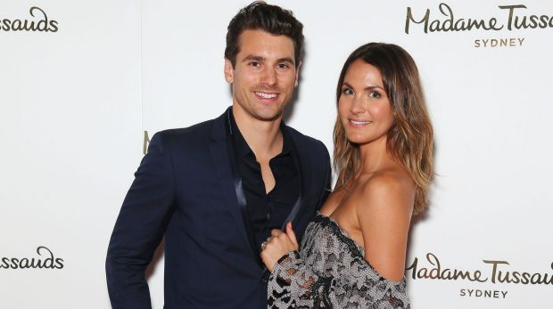 Matty J and Bachelor partner Laura Byrne at the launch of Madame Tussaud's nex exhibit.