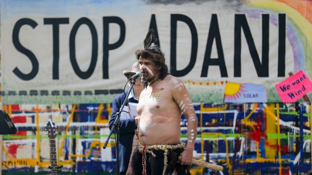 An anti-Adani protest in Victoria