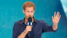 Prince Harry speaks during WE Day Toronto celebrations on Thursday, Sept. 28, 2017.