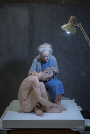 Sam Jinks' The deposition is part of the NGA's Hyper Real exhibition.