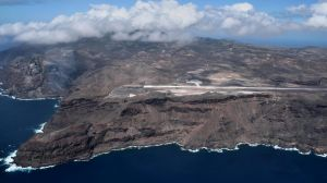 Aerial Shot of St Helena Airport.