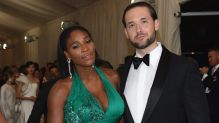 Serena Williams and her now husband Alexis Ohanian.