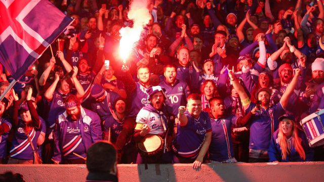 Raw emotion: Iceland's fans celebrate a win against Kosovo