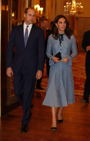 Prince William and Kate, the Duchess of Cambridge attend a reception at Buckingham Palace, London, to celebrate World ...