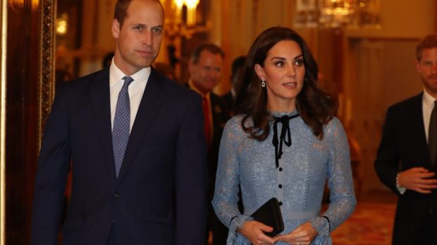 Prince William and Kate attend a reception at Buckingham Palace, London, to celebrate World Mental Health Day.