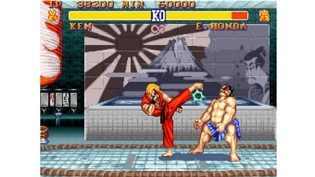 <i>Street Fighter II</i> on the original SNES with 16-bit graphics.